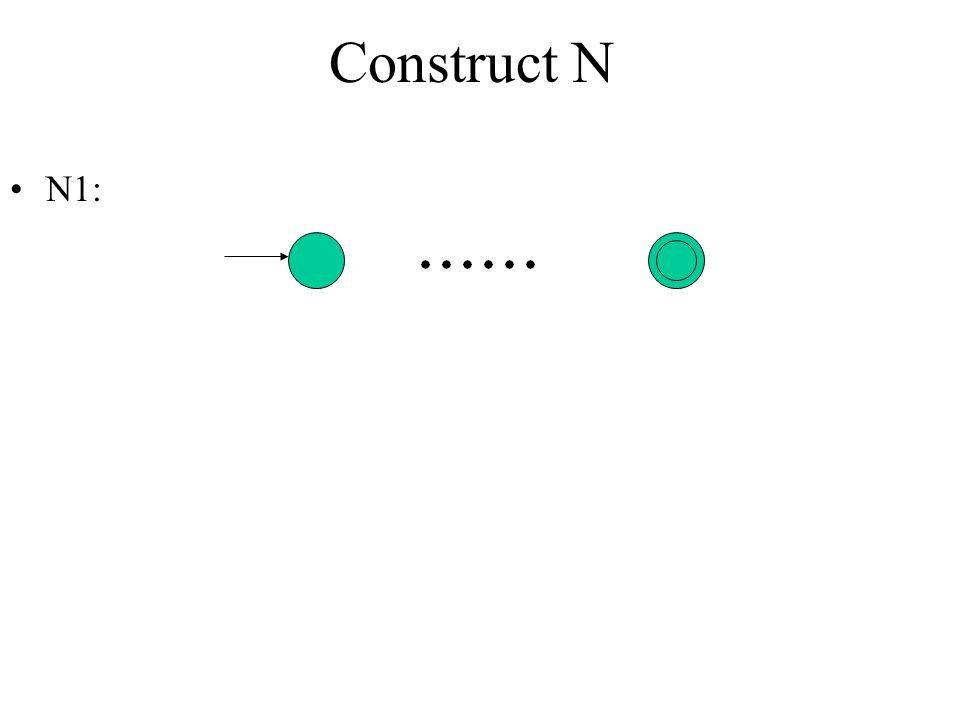 Construct N N1: