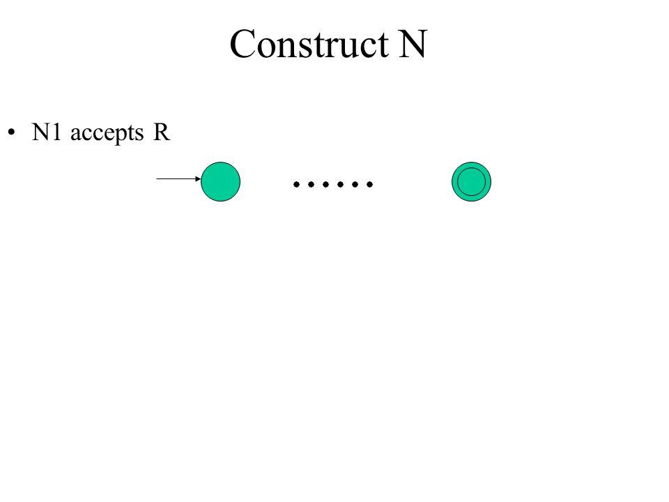 Construct N N1 accepts R