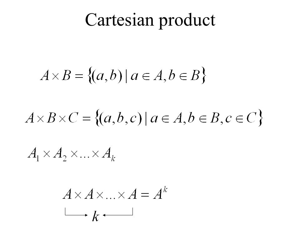 Cartesian product
