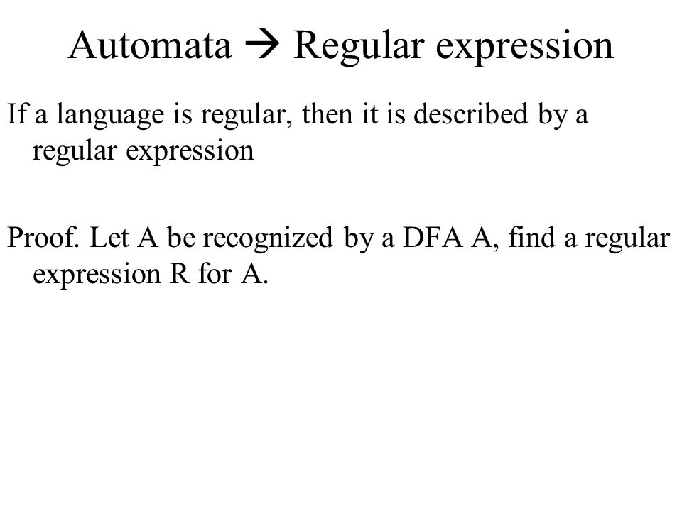Automata  Regular expression