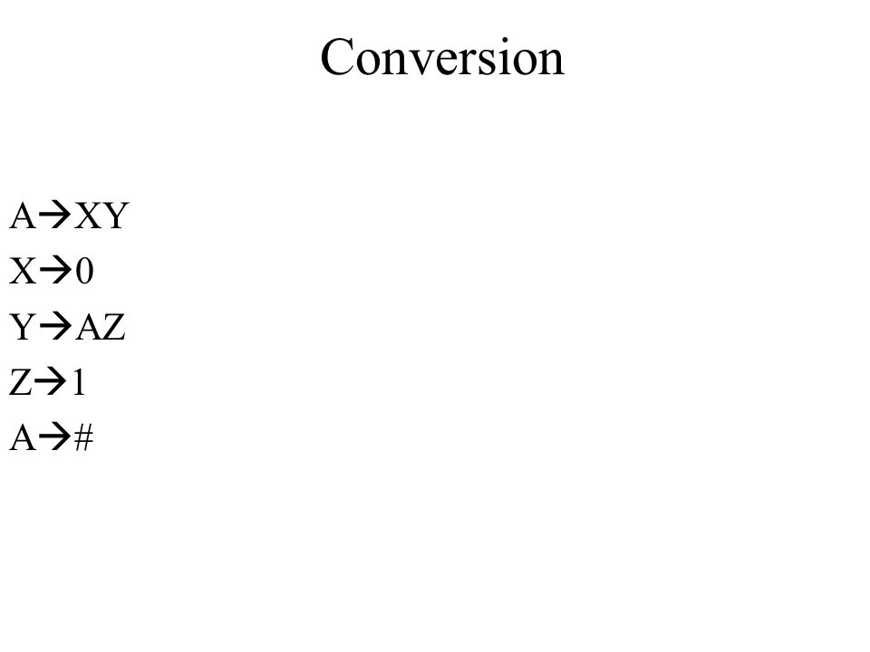 Conversion AXY X0 YAZ Z1 A#