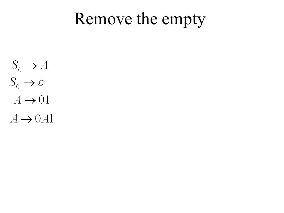 Remove the empty