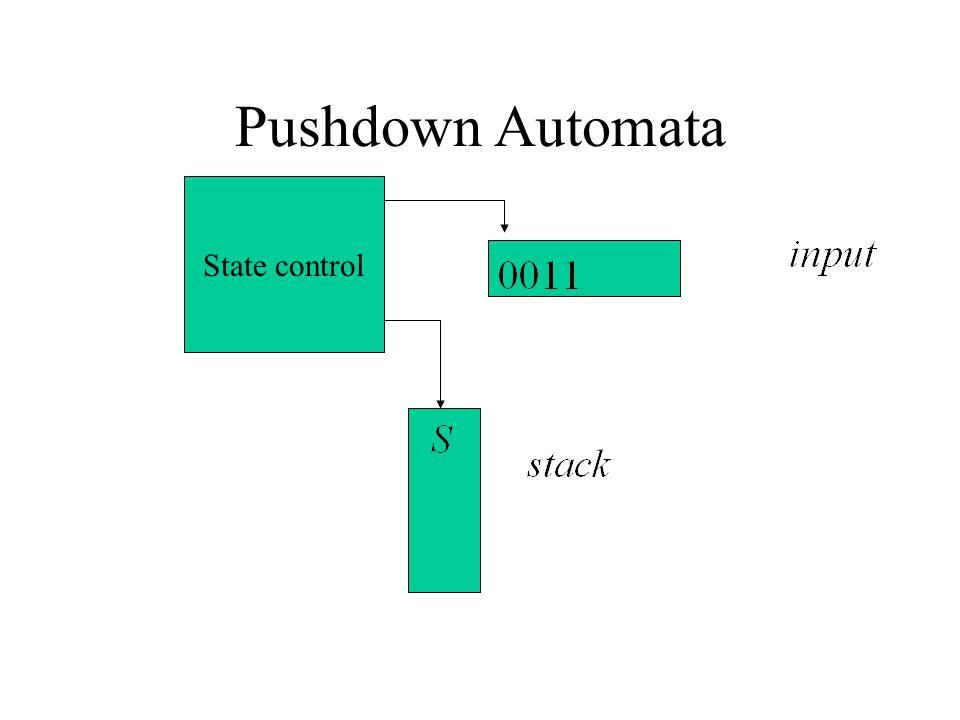 Pushdown Automata State control