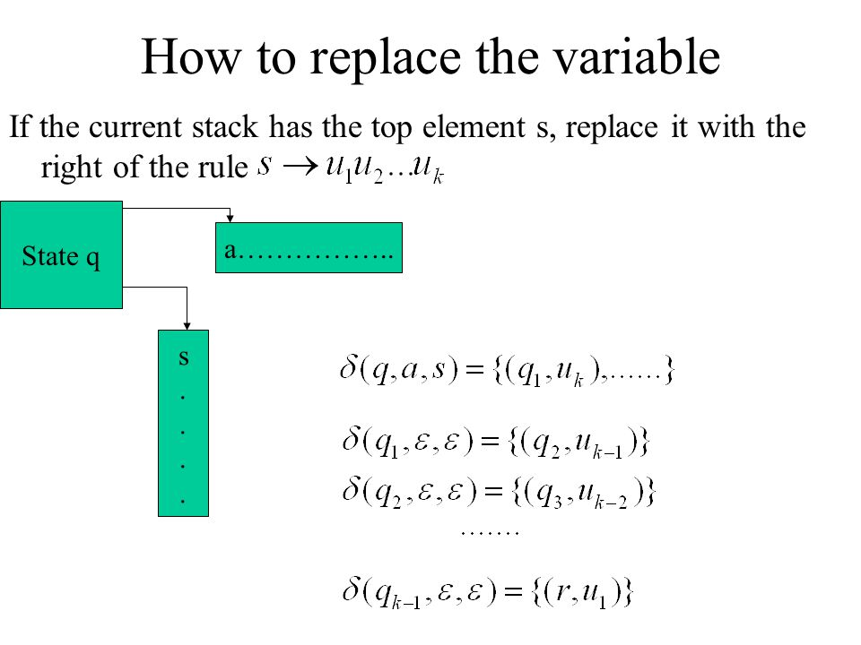 How to replace the variable