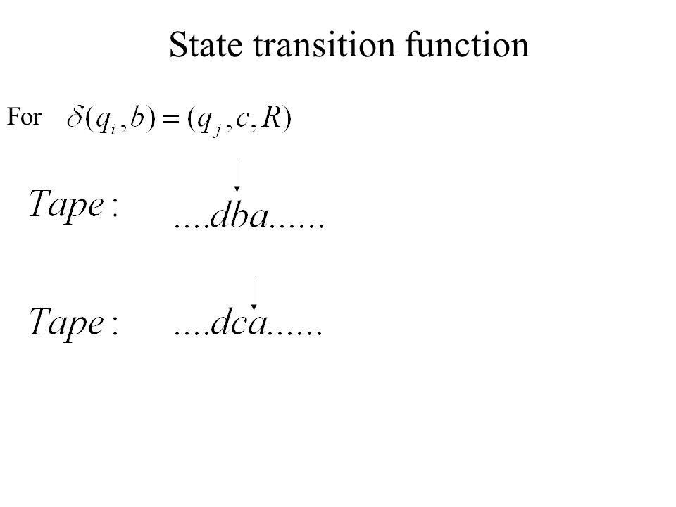 State transition function
