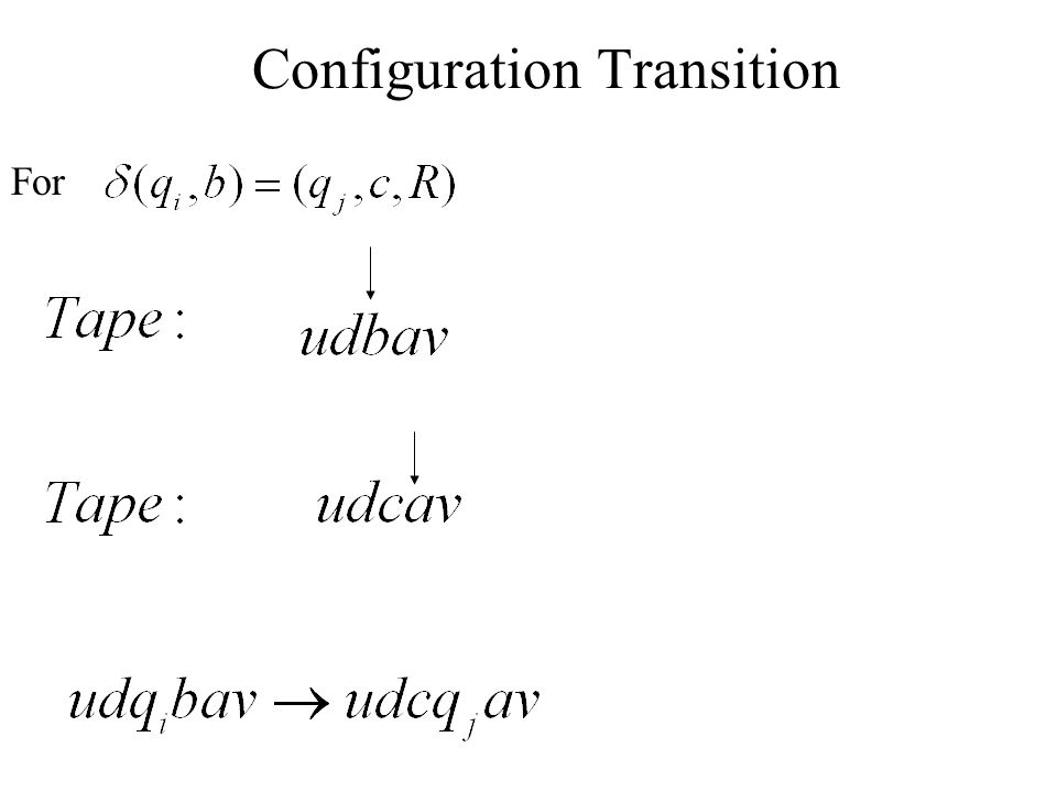 Configuration Transition
