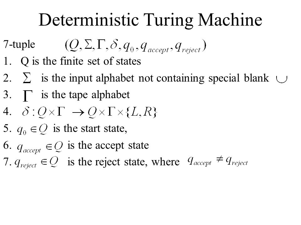 Deterministic Turing Machine