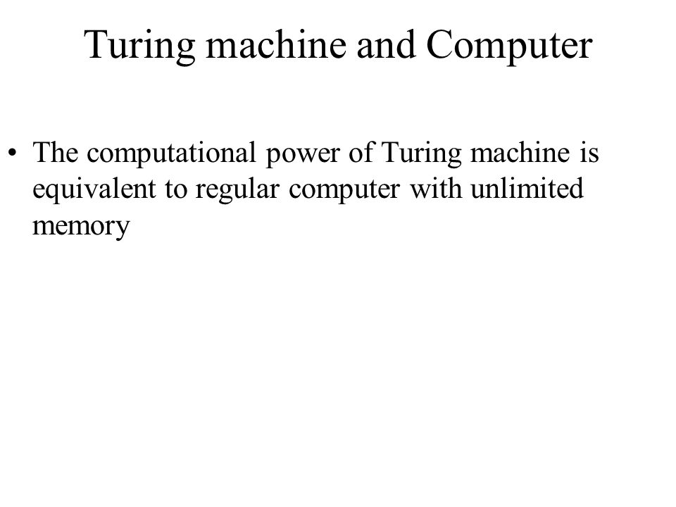 Turing machine and Computer