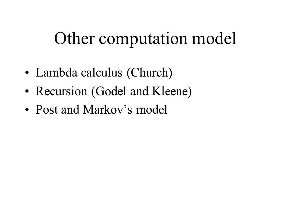 Other computation model