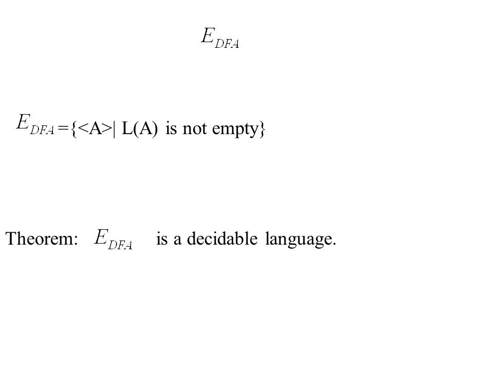 ={<A>| L(A) is not empty}