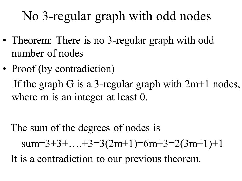 No 3-regular graph with odd nodes