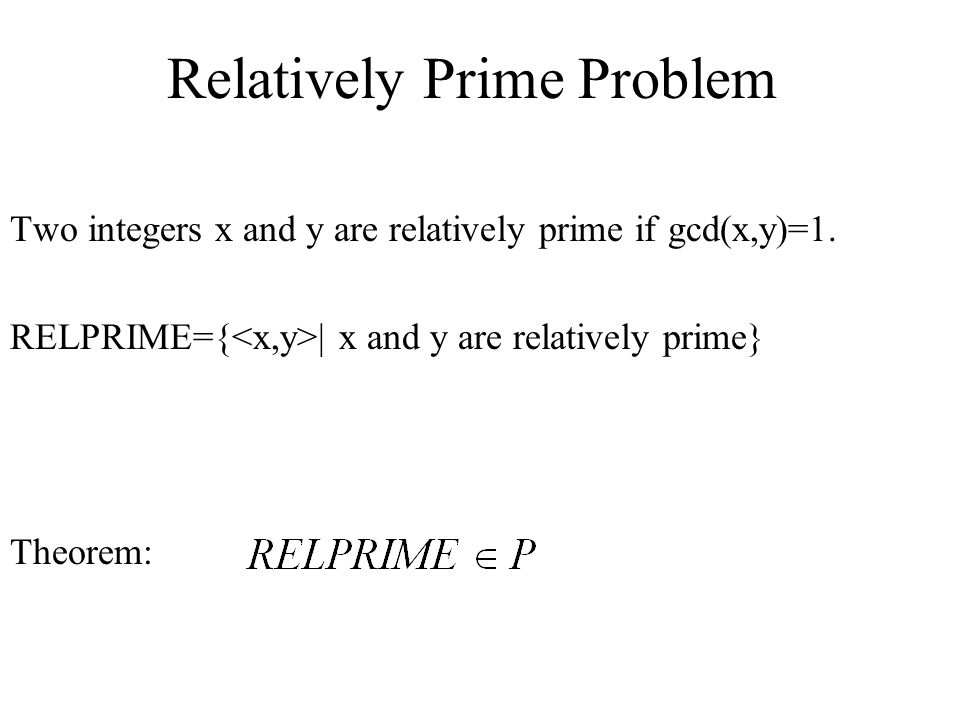 Relatively Prime Problem