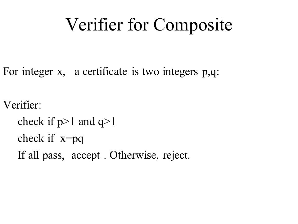 Verifier for Composite