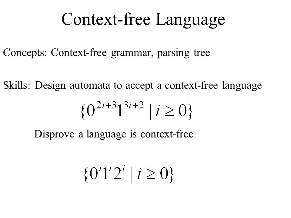 Context-free Language