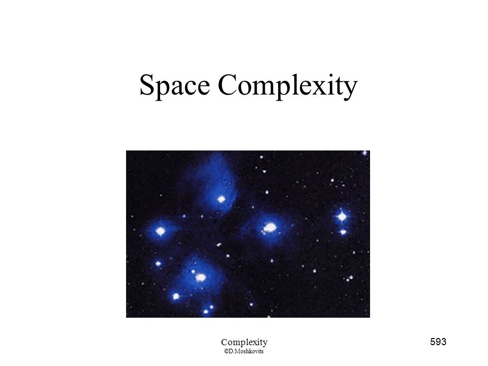 Space Complexity Complexity ©D.Moshkovits