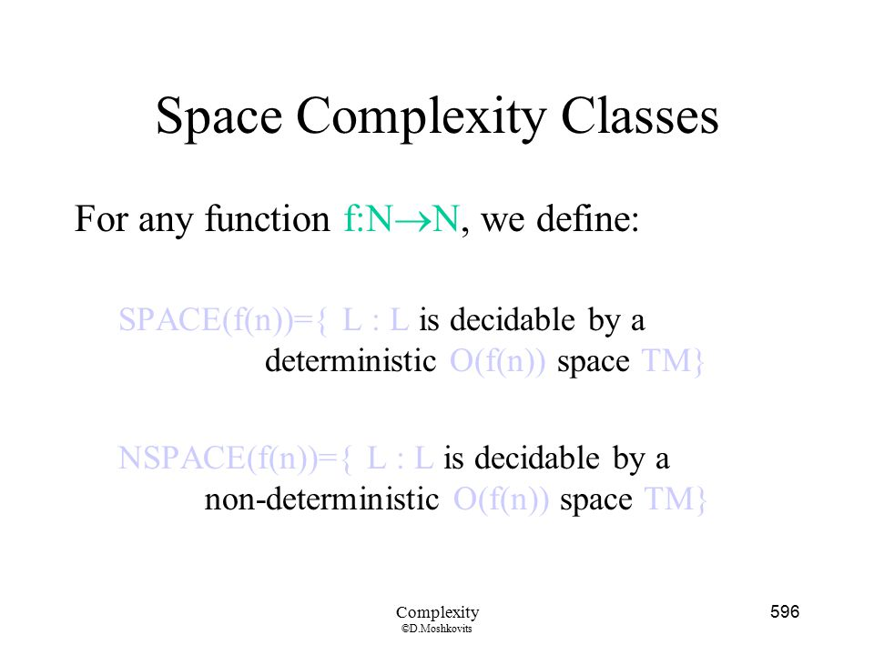 Space Complexity Classes