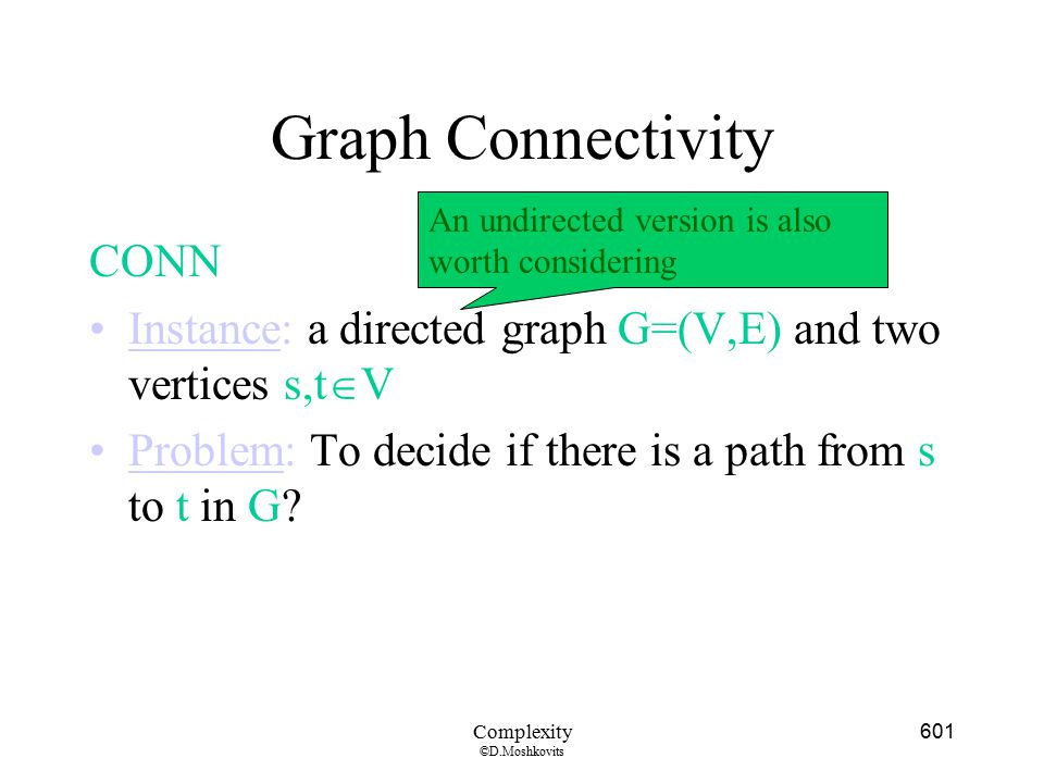 Graph Connectivity CONN