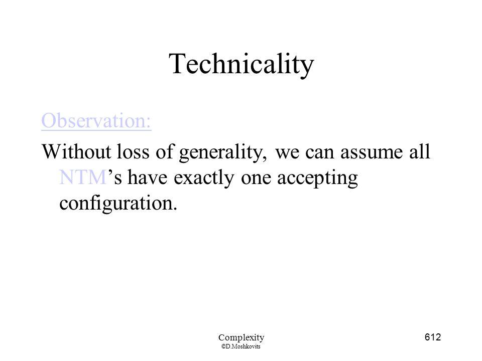 Technicality Observation: