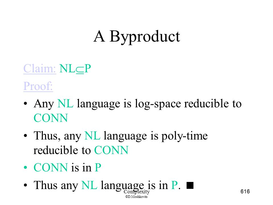 A Byproduct Claim: NLP Proof: