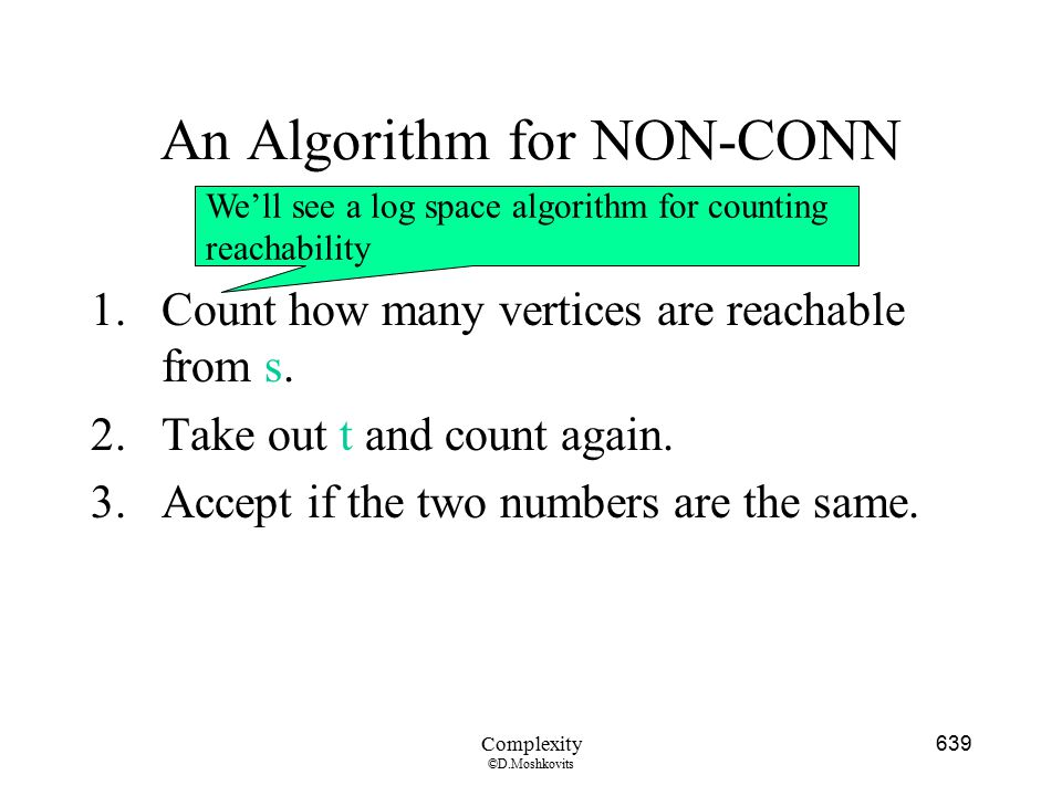 An Algorithm for NON-CONN