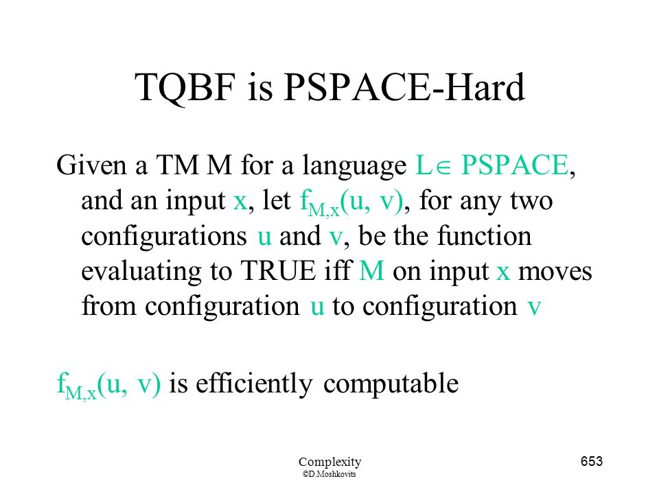 TQBF is PSPACE-Hard