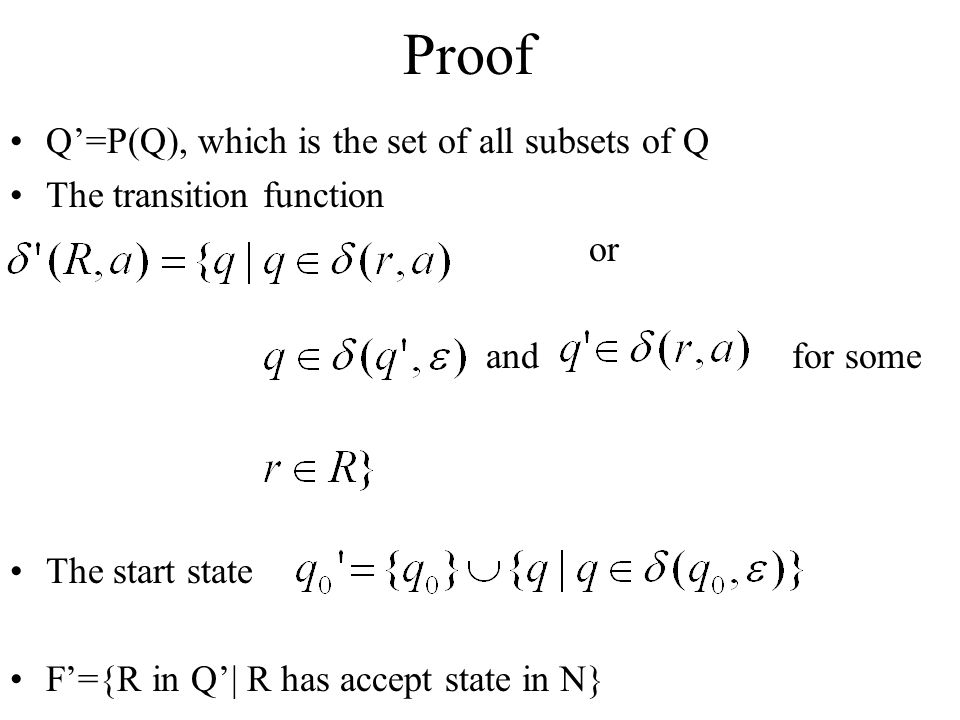 Proof Q'=P(Q), which is the set of all subsets of Q