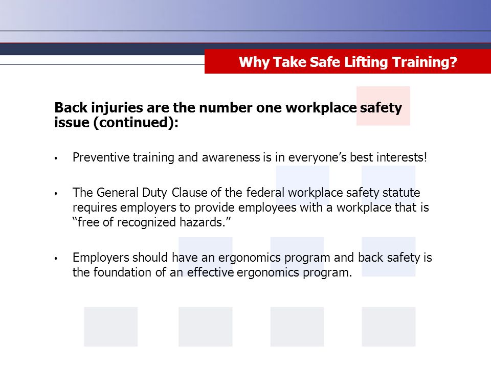 Why Take Safe Lifting Training