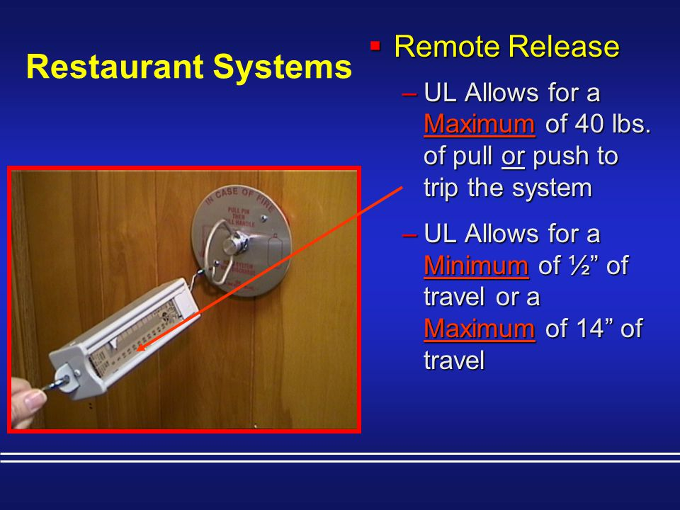 Restaurant Systems Remote Release