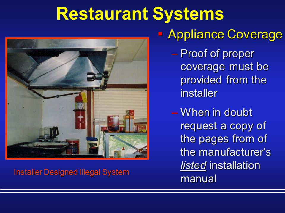 Restaurant Systems Appliance Coverage