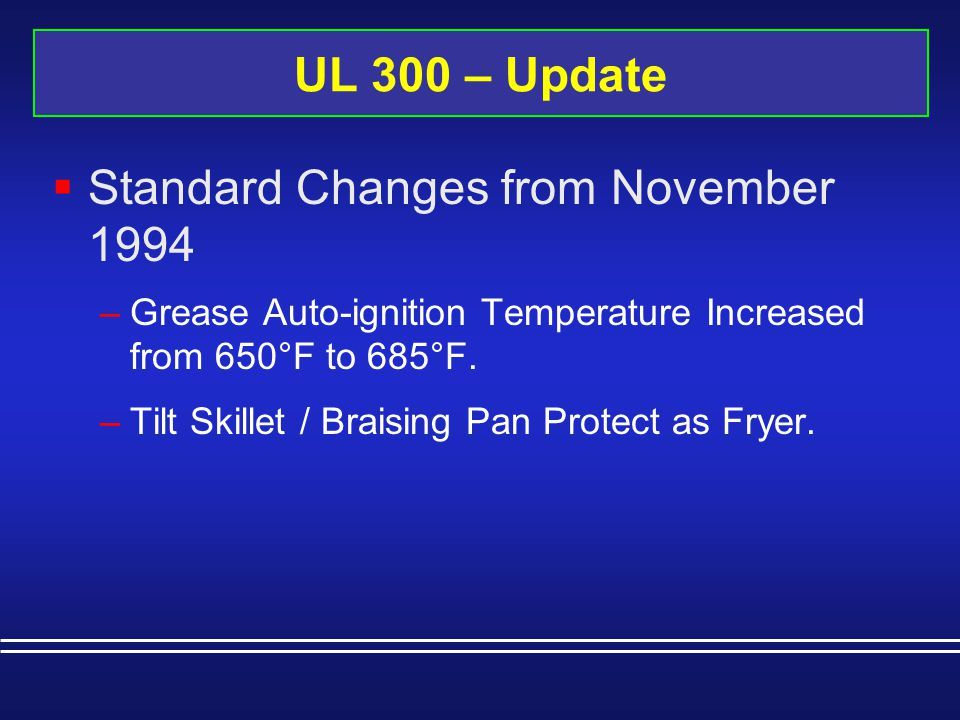 Standard Changes from November 1994