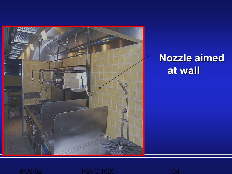 Nozzle aimed at wall 8/09/02 FSFC 1620
