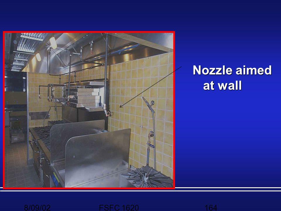 Nozzle aimed at wall 8/09/02 FSFC 1620