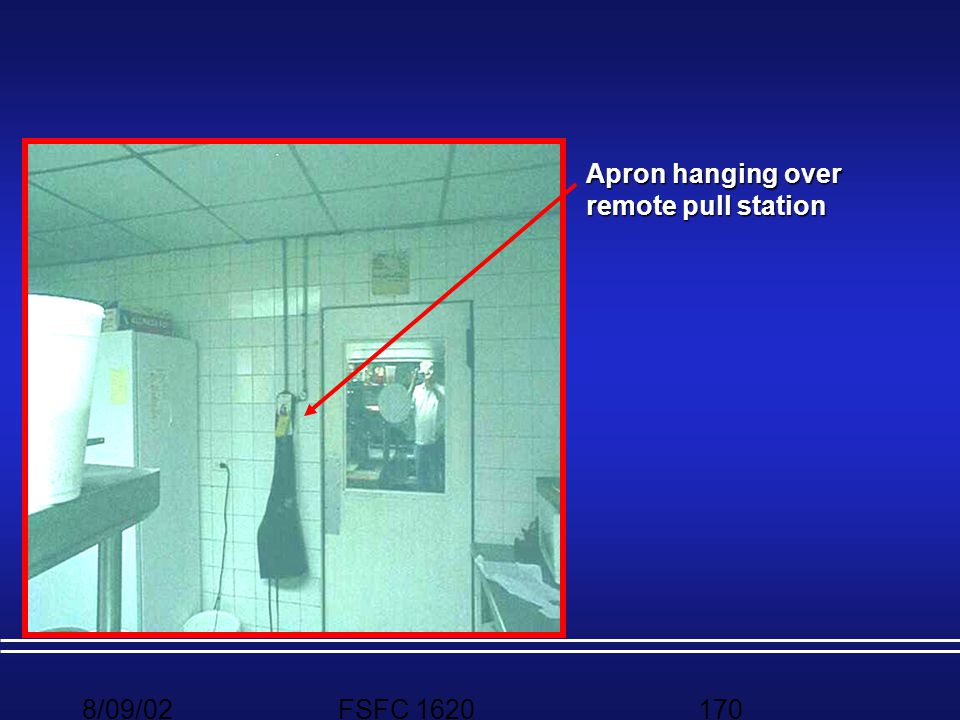 Apron hanging over remote pull station