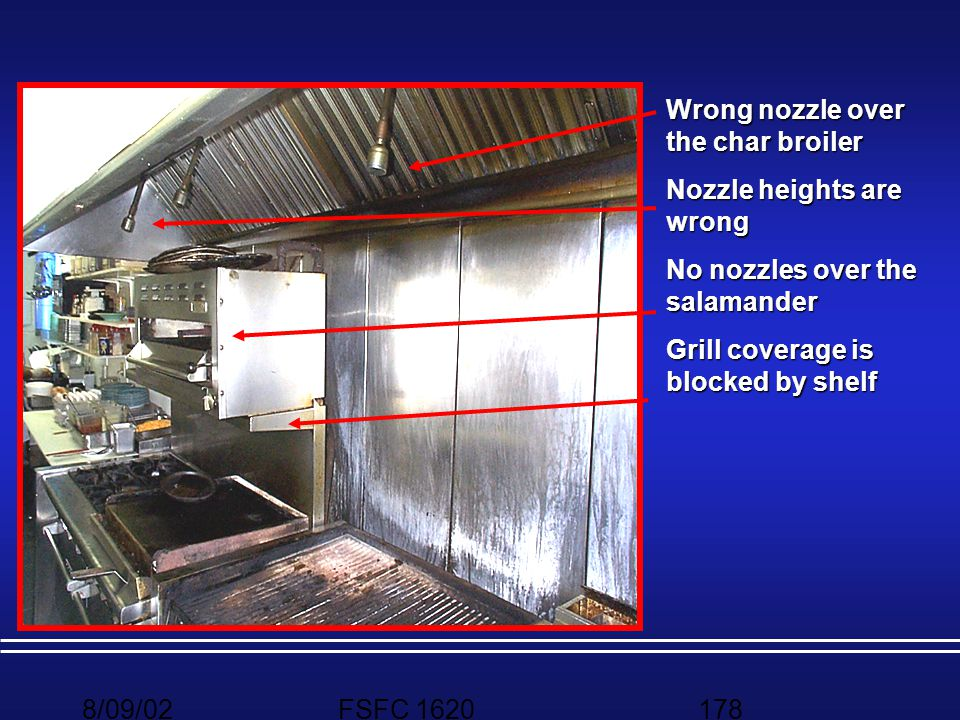 Wrong nozzle over the char broiler