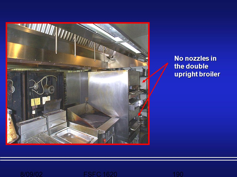 No nozzles in the double upright broiler