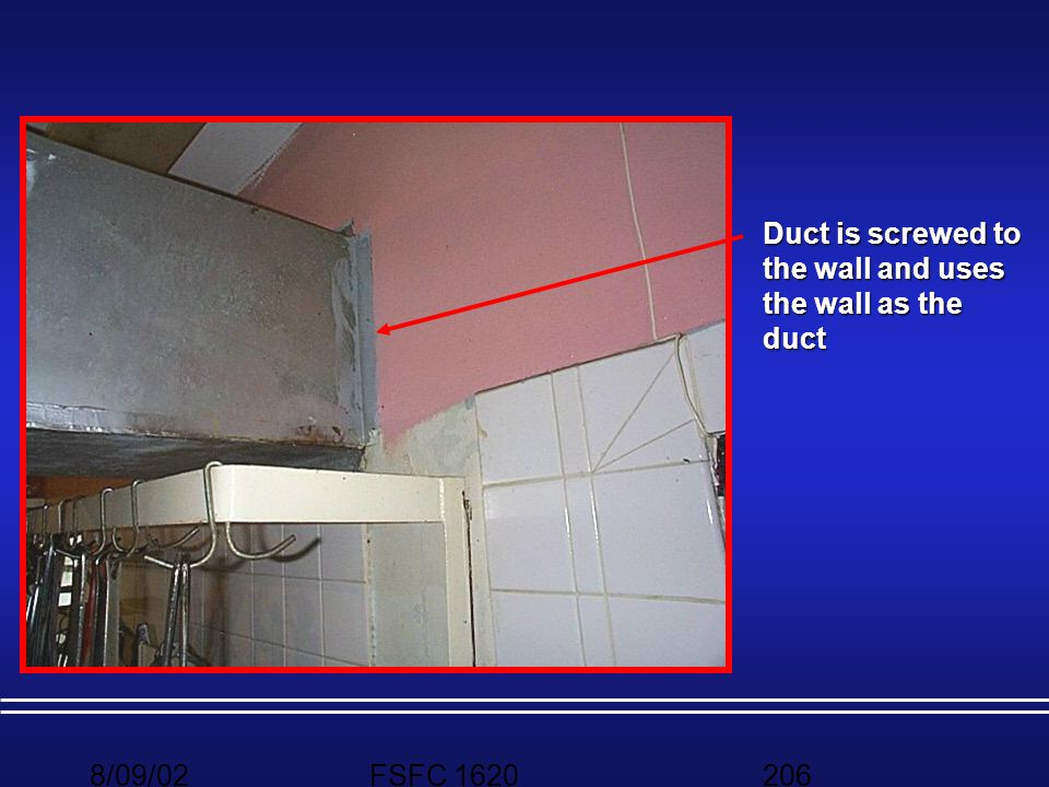 Duct is screwed to the wall and uses the wall as the duct
