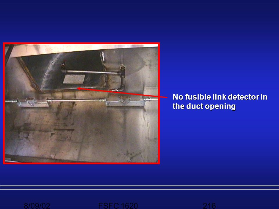 No fusible link detector in the duct opening