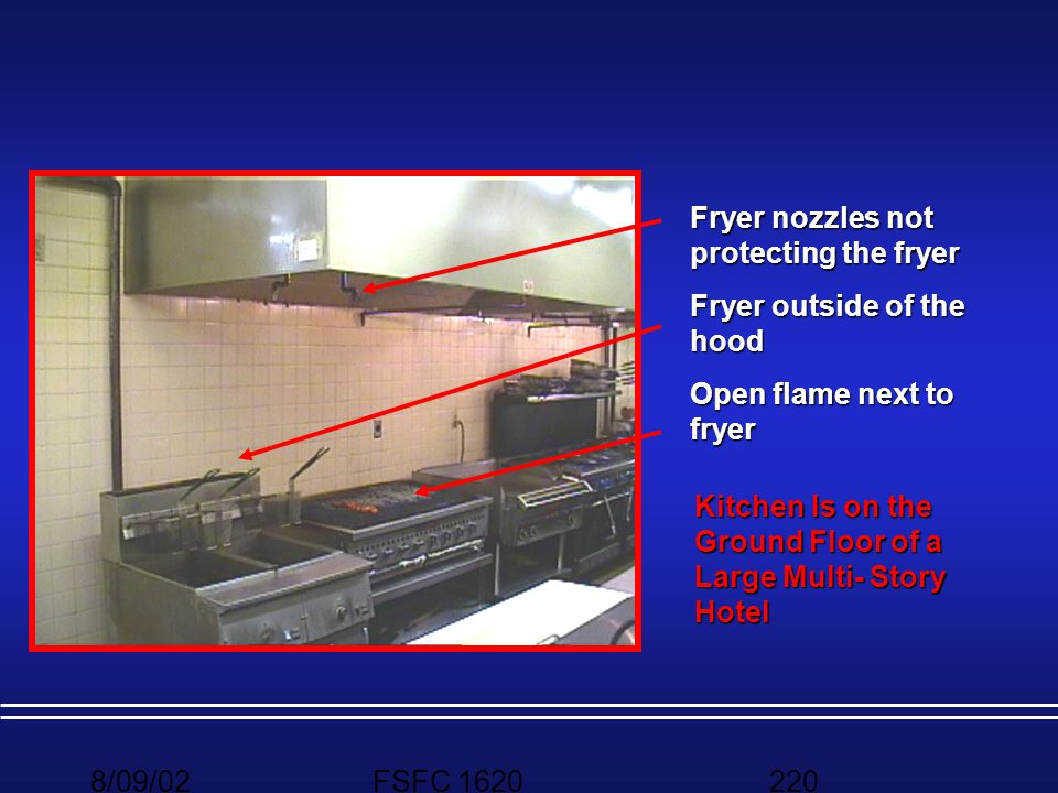 Fryer nozzles not protecting the fryer