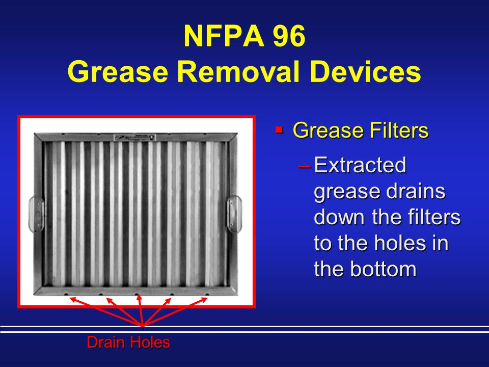 NFPA 96 Grease Removal Devices