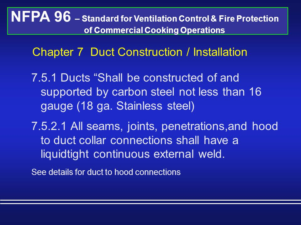 Chapter 7 Duct Construction / Installation