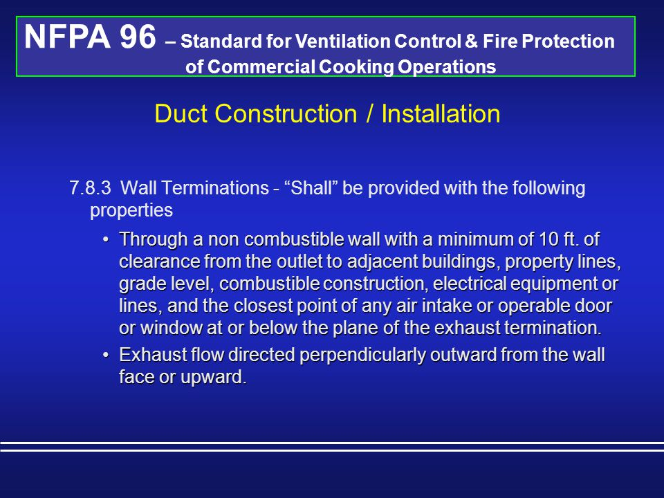 Duct Construction / Installation