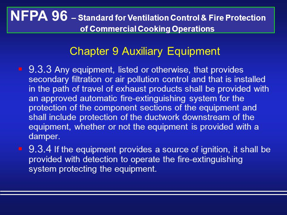 Chapter 9 Auxiliary Equipment