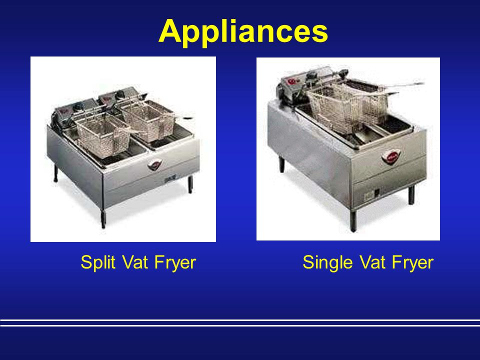Appliances Split Vat Fryer Single Vat Fryer