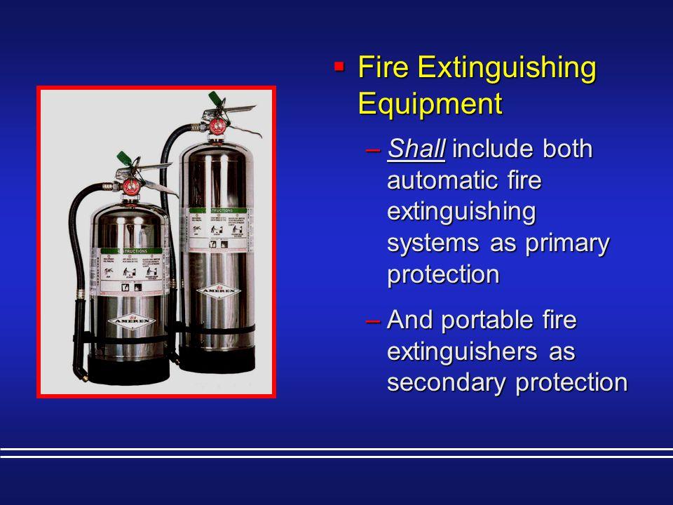 Fire Extinguishing Equipment