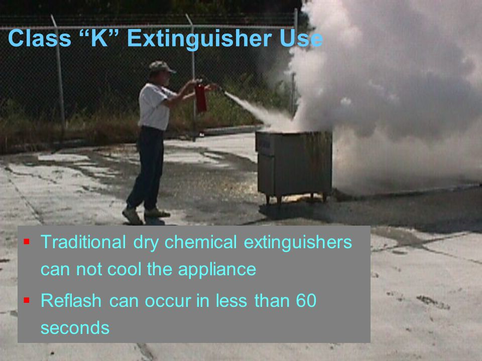 Class K Extinguisher Use