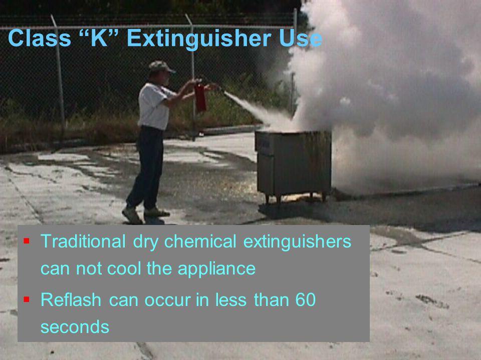 Class K Extinguisher Use