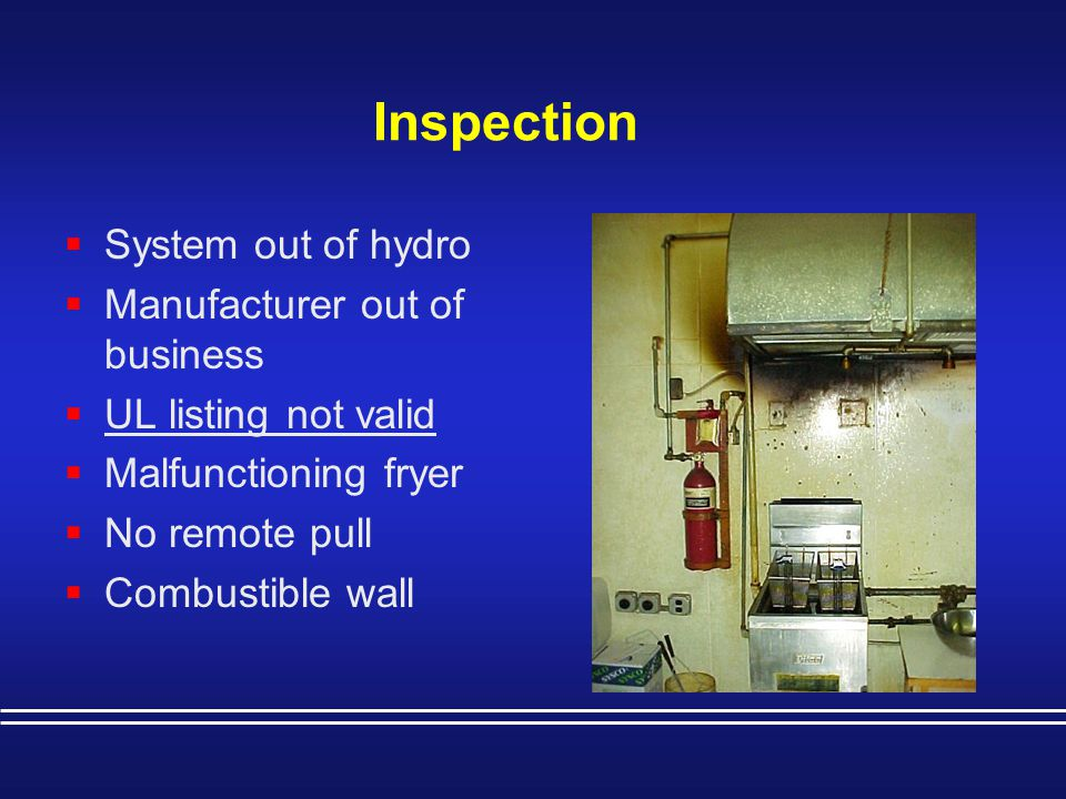 Inspection System out of hydro Manufacturer out of business