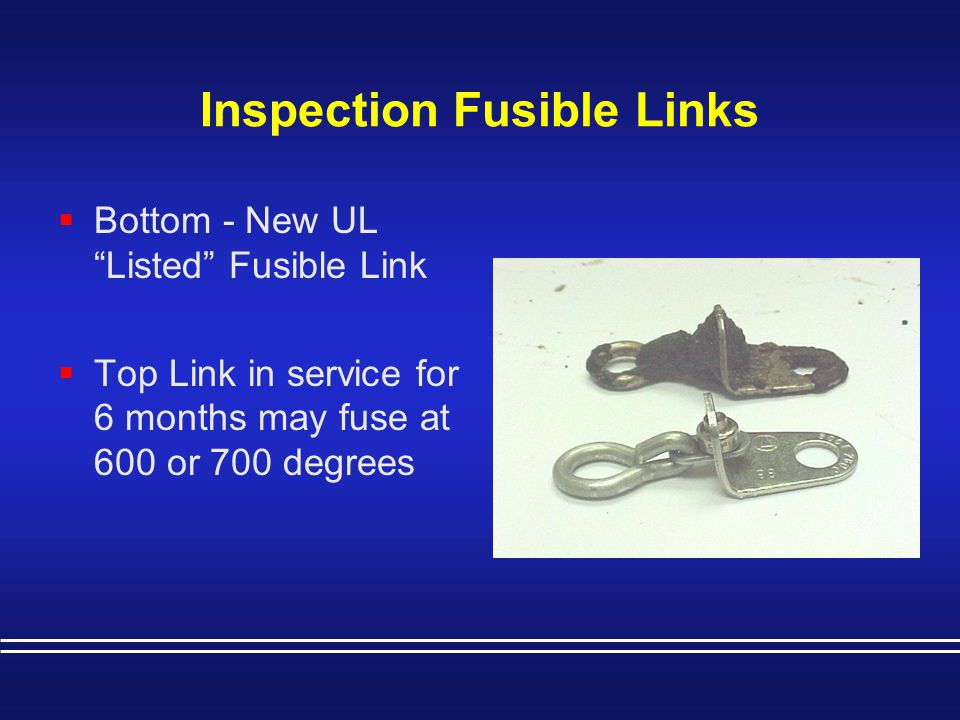 Inspection Fusible Links