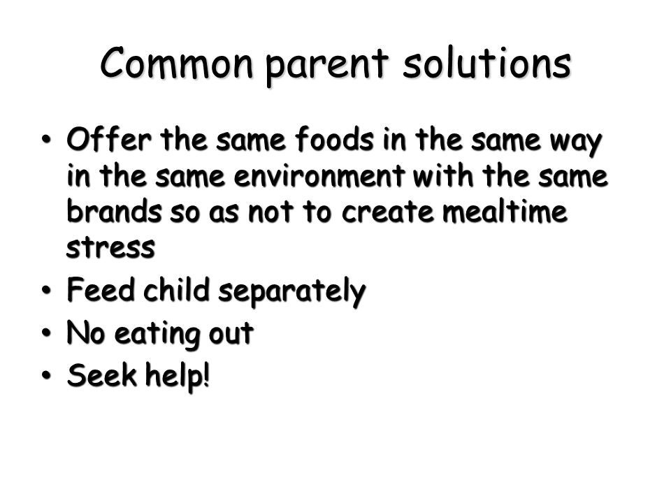 Common parent solutions