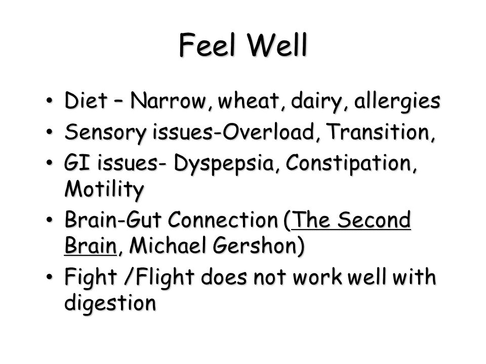 Feel Well Diet – Narrow, wheat, dairy, allergies